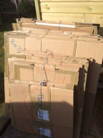 Assorted cardboard boxes, moving boxes, double walled- good size- 25 boxes for £20- 100 available