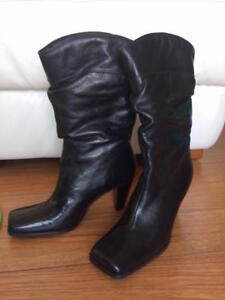 HushPuppies Leather Boots (NEW) with FREE Steve Madden Shoes