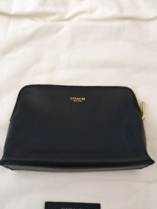 Coach Black Leather Cosmetic Bag for $45!!!!