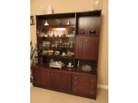 Jentique American Walnut display & drinks cabinet as new. Fitted cutlery drawer + 2 storage drawers
