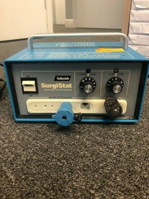 USED VALLEYLAB SURGISTAT B ELETROSURGICAL UNIT with Footswitch