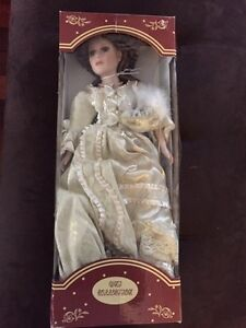 "Beautiful Hand Painted 22"" Porcelain Doll"