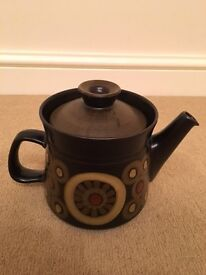 Teapot Vintage Denby Arabesque China Crockery Discontinued Brown Pattern Patterned