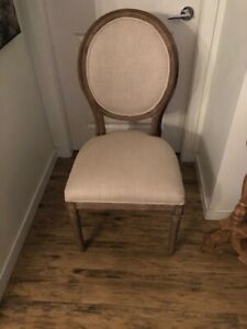 French Round Restoration Hardware Dining Chairs