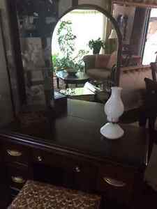 Vintage Vanity Dresser with Mirror and Stool Strathcona County Edmonton Area image 4