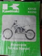 KAWASAKI KX125 & KX250 FACTORY WORKSHOP MANUAL c1992 Dianella Stirling Area Preview