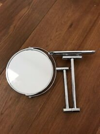 Round wall mirror - extendable and magnifying
