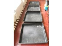 4 garden trays by Garlands . 1m by 1m size .