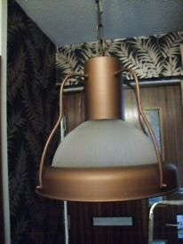option of ONE of 2 industrial type hanging lights