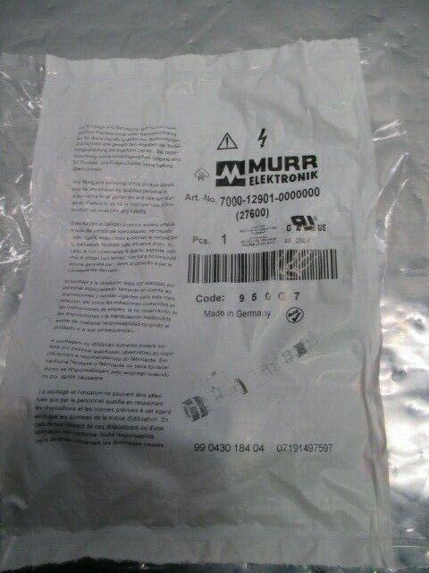Murr Elektronik 7000-12901-0000000 Female Straight Wireable Screw, 453727