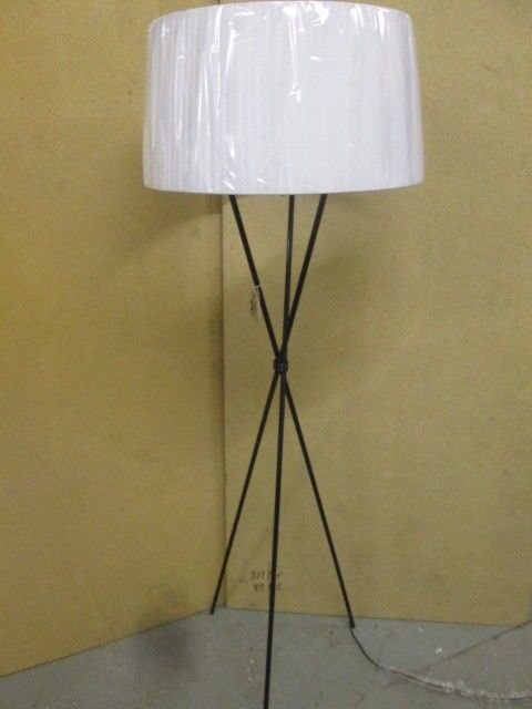 standing lamps modern wood floor standing lamps fabric lampshade red cord  wooden tripod base floor lamp . standing lamps ...