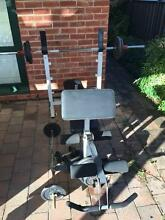 GYM SET - Bench Press - Multi Function - 100kgs Weights Broadview Port Adelaide Area Preview