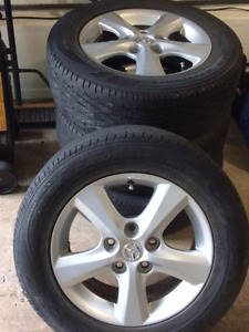 4 Goodyear Tires with Mags for Mazada 3