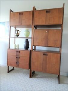 Teak and Rosewood Wall Unit