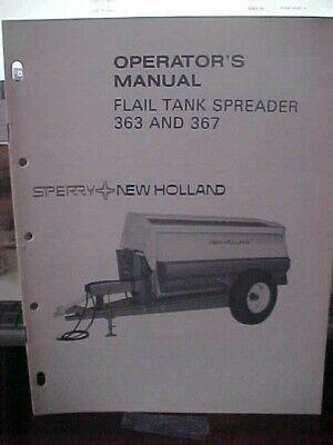 Om New Holland Flail Tank Spreader 363 367 1h