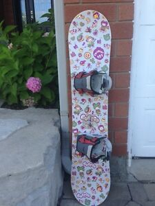 "Snowboard (46"") w Bindings and Boots Size 3"
