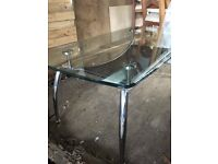 Rectangular glass coffee table, great condition!