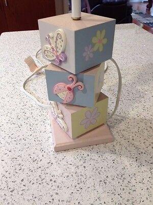 KidsLine BUGS & FLOWERS Nursery LAMP BASE Butterflies Snail Ladybug Catapiller
