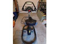 Evo ix Exercise Bike Trainer, Indoor Cycle, Grey Steel Sway Frame,Orb Gear Drive