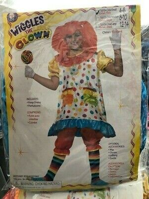 Wiggles The Clown Girls Child 2 Piece Costume New!!! (Girls Clown Costumes)