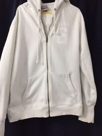 Superdry Hoodie White Large size Hardly worn