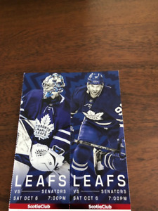 Leafs Tickets - Scotia Club Reds - Many Games Available!
