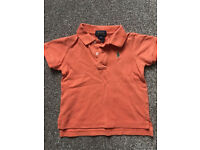 Orange Polo Ralph Lauren Short Sleeve Polo Top Age 12 months