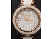 DKNY CERAMIC WHITE AND ROSE GOLD WATCH NY8500