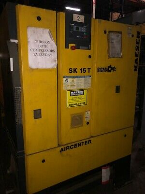 Kaeser Sk15t 15 Hp Air Compressors With Built-in Air Dryer And Tank