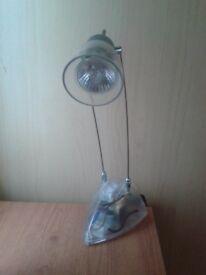 Adjustable halogen desktop lamp