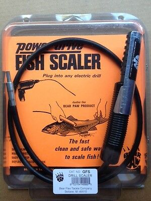 1 Bear Paw Power Drive GFS FISH SCALER NEW [for use with your electric drill]