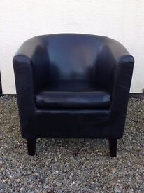 2 Leather Lounge Chairs