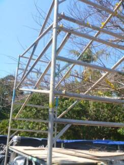 AL MOBILE SCAFFOLD 6M WH or AL SPAN DECK WALKER With 4 TOWERS