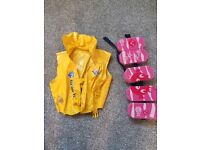 Swimming jacket and floater