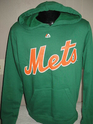 MLB New York Mets Baseball Celtic Green Irish Theme Hoody Hooded Sweatshirt  Nwt - Irish Themes