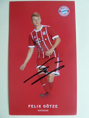 Felix Götze (20) - ORIGINAL signiert - Bayern München 2017/2018 (17 18)