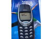 Nokia 3310 mobile phones - 2 phones, one locked to Vodafone