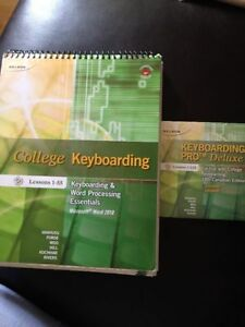 College Keyboarding Textbook and Keyboarding Pro Deluxe 2 CD