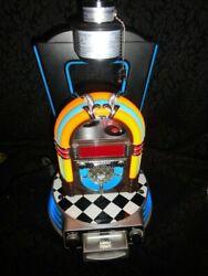 King America Retro Jukebox Lamp Alarm Clock Radio IPOD Dock Neon Glow TESTED