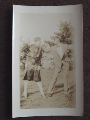 CUTE YOUNG COUPLE, MAN HAS A PIPE IN HIS MOUTH, DANCING? 1920's PHOTO](Young Cute Tube)