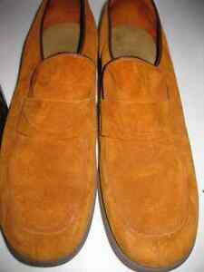 Med.Brown Suede Leather Slip on Shoes