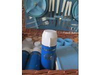 large vintage Brexton picnic hamper basket