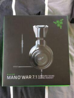 PC PS4 Razer Man O War 7.1 gaming headset wired