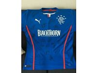 Rangers FC Home 2013/14 shirt signed