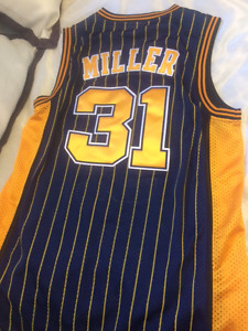 Reggie Miller Jersey- Indiana Pacers- Adidas Brand-Home Colour