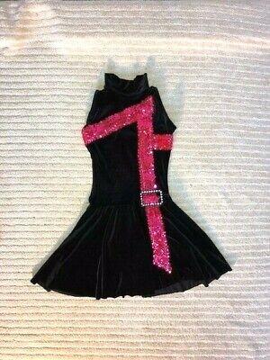 Black & Pink Velvet Youth & Adult Jazz/Tap/Musical - Pink Jazz Dance Kostüme