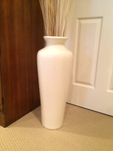 VASE , Tall floor URN,  Polished Ceramic Vase  , for indoor use.