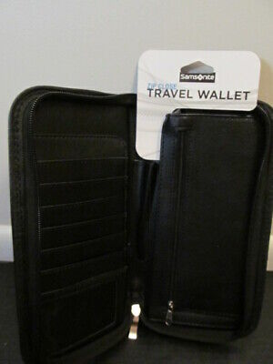 Samsonite Zip Close Travel Wallet Black 91213-1041