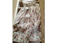 M&S good quality wide unlined curtains in floral fabric. Collect from Fulham