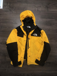Vtg Yellow The North Face Gortex Jacket